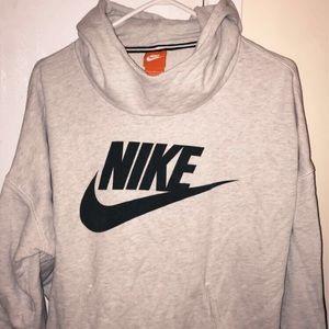 nike gray hoodie